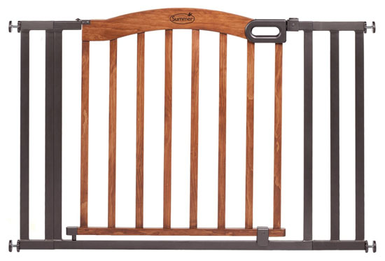 Summer Decorative Wood and Metal 5 Foot Pressure Mounted Gate