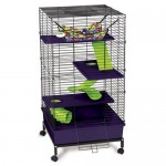 Super Pet My First Home Deluxe Multi-Level Pet Home Provides Plenty of Rooms For Your Small Pets
