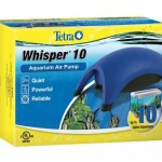 Tetra 77851 Whisper Air Pump : Quiet, Power and Reliable Air Pump for Your 10-Gallon Aquarium