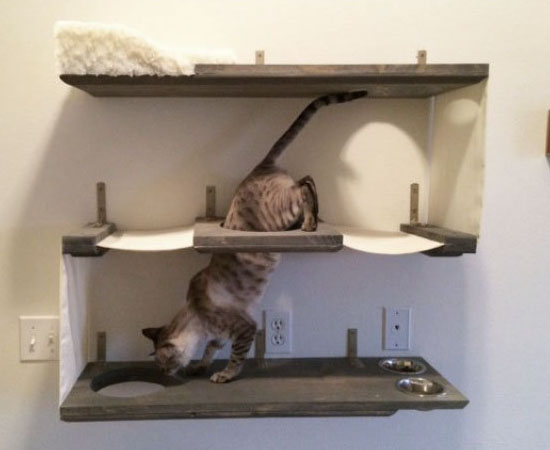 three level cat wall bunker for cats that enjoy jumping and climbing
