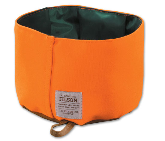 Tin Cloth Dog Bowl from Filson