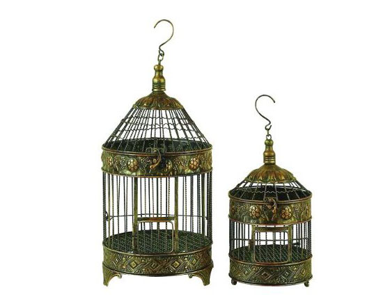 Top 10 Decorative Bird Cages - Deco 79 Metal Bird Cage (Set of 2)