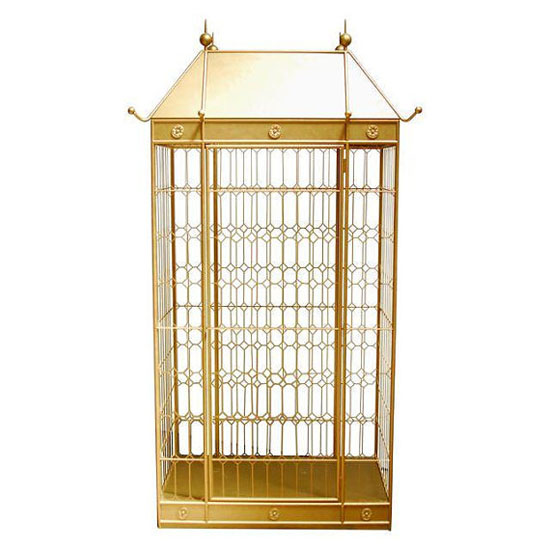 Monumental Hollywood Regency Gilt Bird Cage