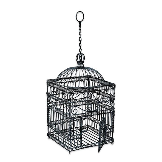 Achla Victorian Decorative Hanging Bird Cage