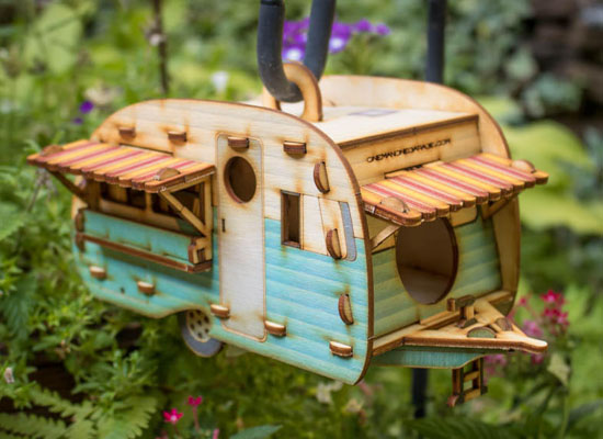 Cute Vintage Camper Bird House by 1Man1Garage