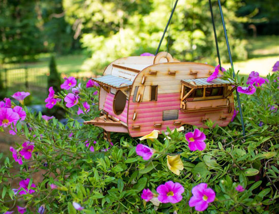 Cute Vintage Camper Bird House