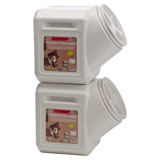 Vittles Vault Stackable Pet Food Container Keeps Pet Food Fresh and