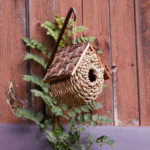 Made in Philippines, Wicker Bird Bungalow Is Made of Wicker, Rope, and Twigs