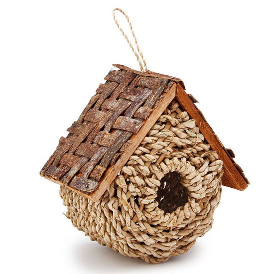 Wicker Bird Bungalow - Bird House