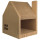 Jumbl Oversized Cat House and Cat Scratcher Station Made Out Of 48 Layers of Duofold Cardboard