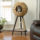 "Sauder 44"" Sphere Scratch Post Cat Tree With  A Wicker Sphere on Top"