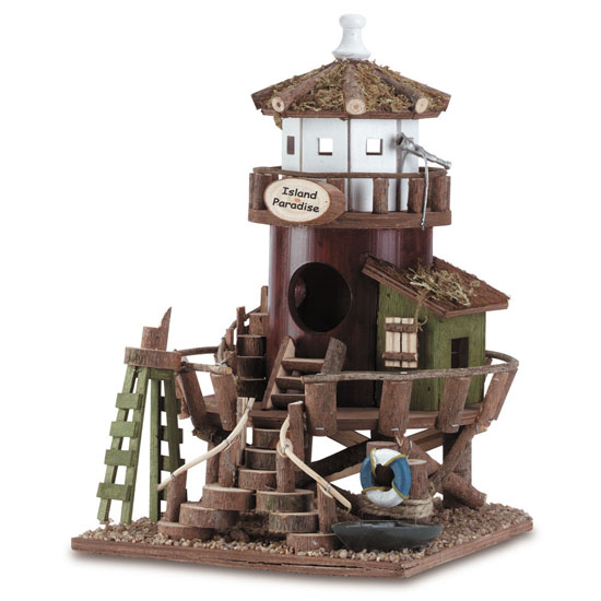 Zingz and Thingz Seaside Station Freestanding Birdhouse